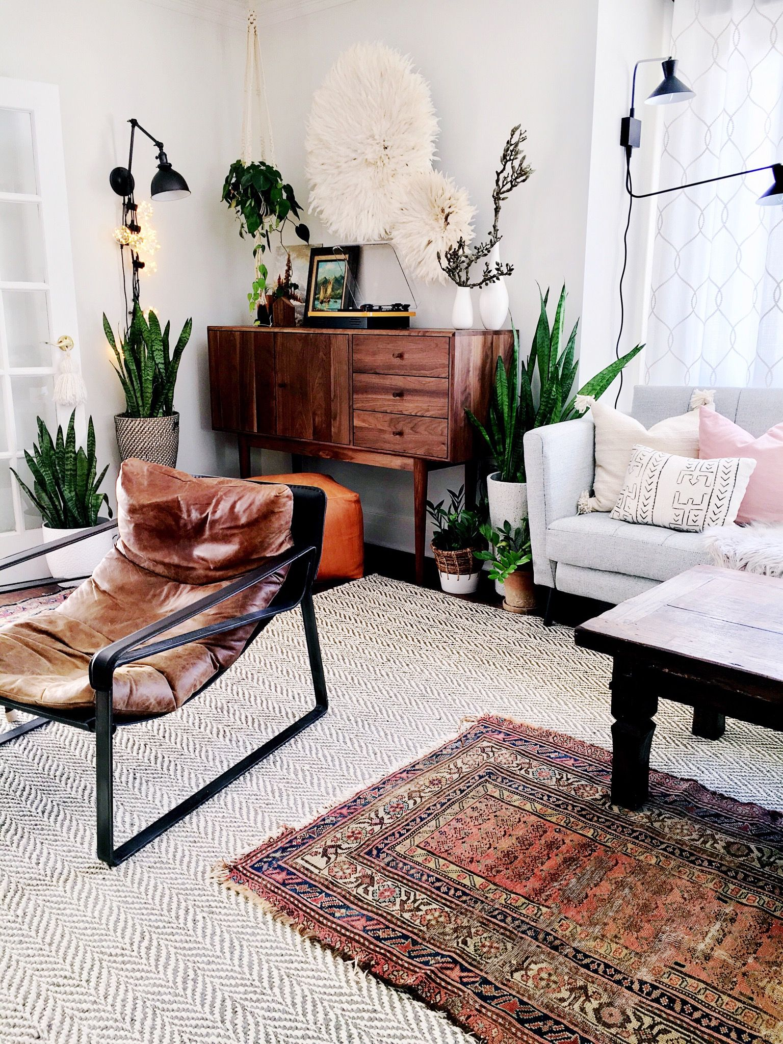 Boho Meets Nordic Style In A Bold New Jersey Home For Six Home Interior Design Apartment Living Room Living Room Designs