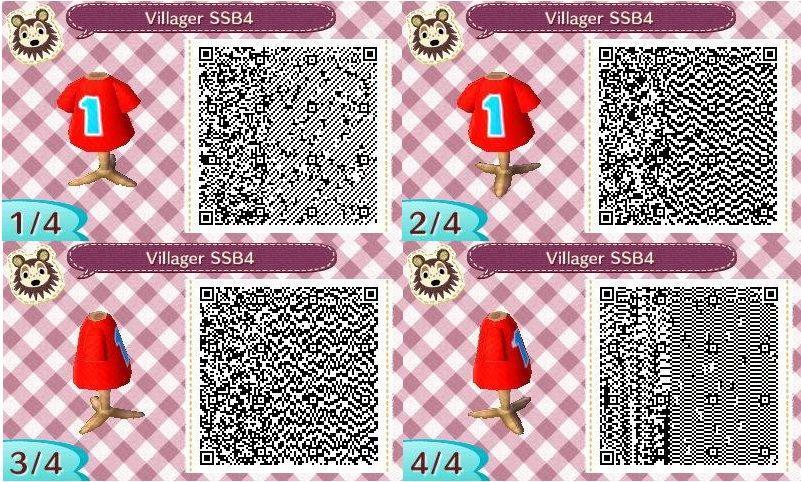 Animal Crossing New Leaf Villager Ssb4 Qr Codes By