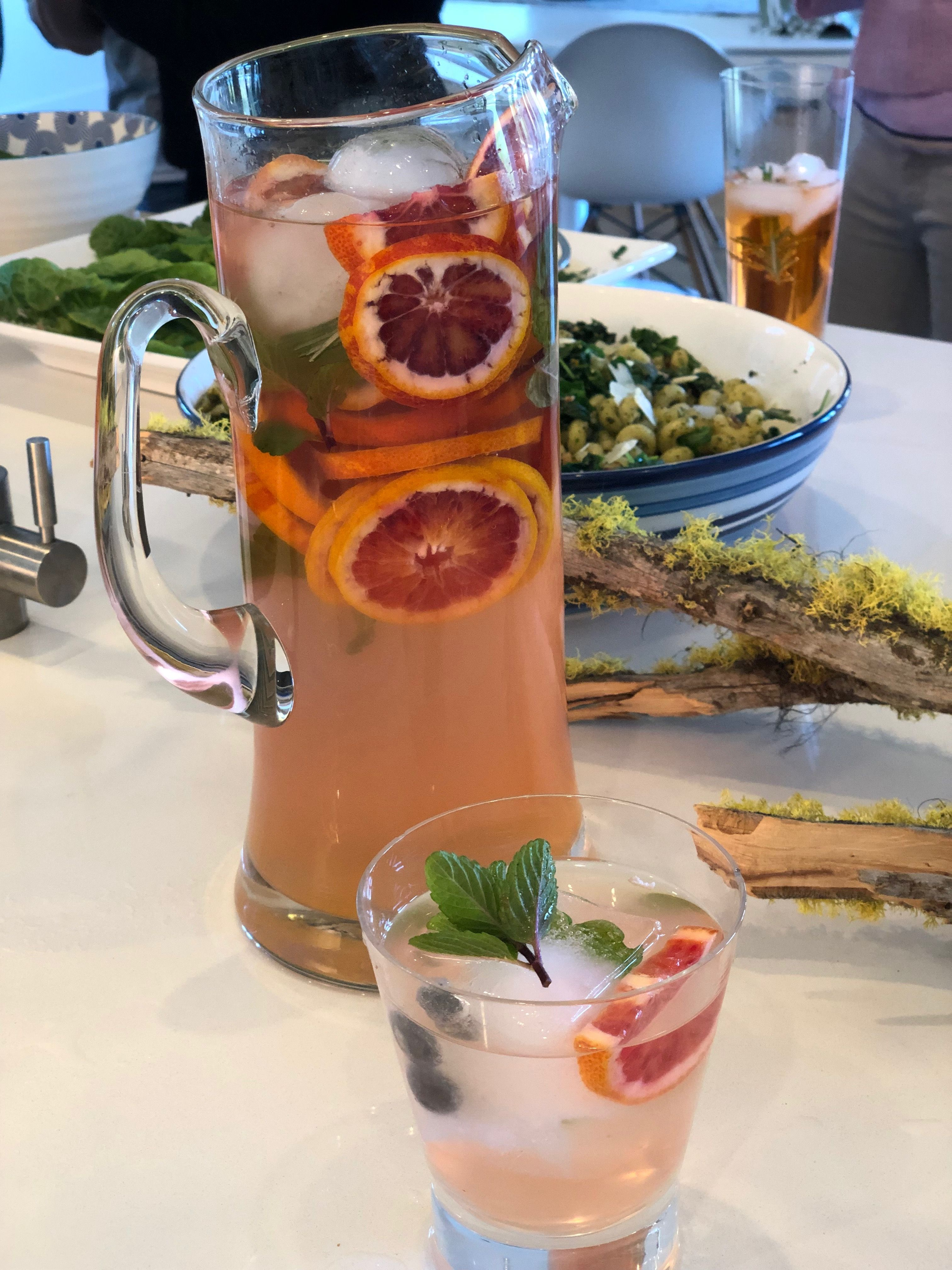 Drinks infused with herbs and citrus from the garden