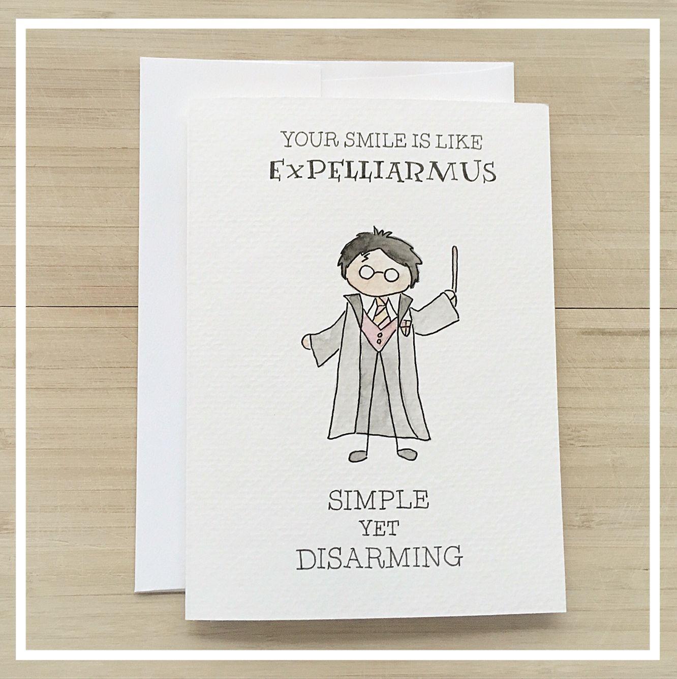Harry Potter Love Card Www Etsy Com Ca Shop Kenziecardco Www Kenziecards Com Harry Potter Cards Harry Potter Birthday Cards Harry Potter Valentines