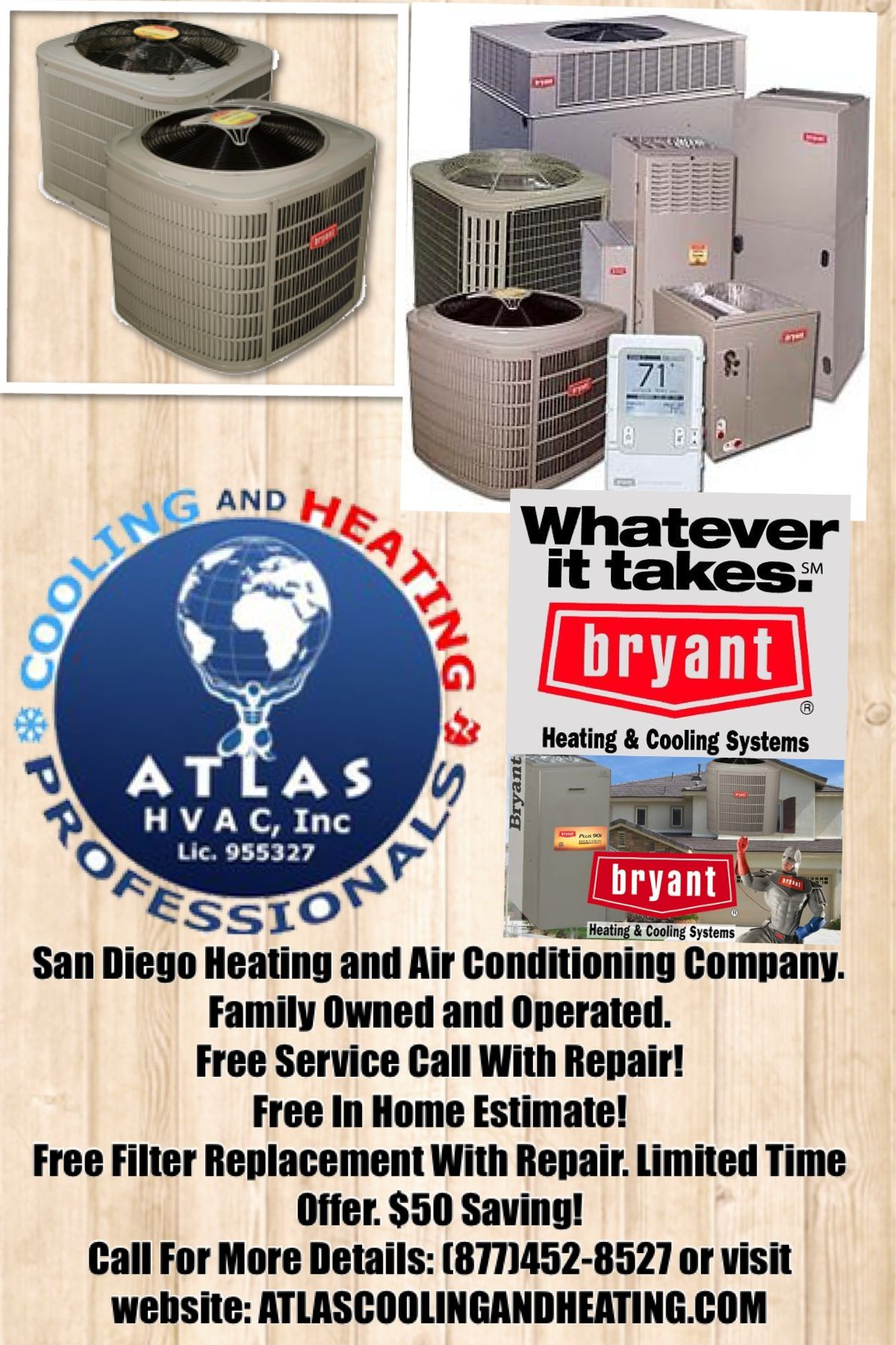 Atlas Cooling Heating Inc Offer A Wide Range Of Products To