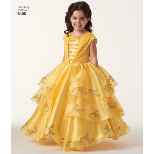 Simplicity Pattern 8405 Disney Beauty And The Beast Costume For Child 18 Doll