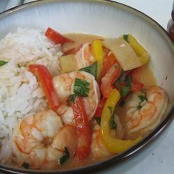rode thaise garnalen curry