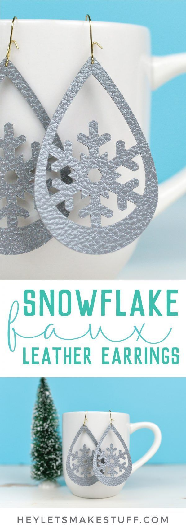 Photo of Use your Cricut to make these trendy these faux leather earrings—sweet snowfla…