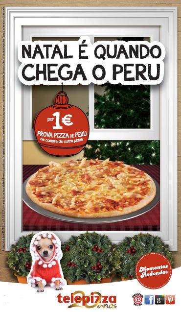 Natal é quando chega o Peru.  * Já descobriste onde está a mascote nesta imagem?