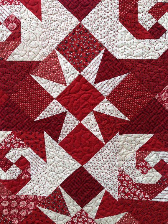 block details of snail trail/star quilt