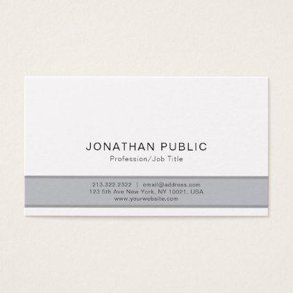 Professional Modern Stylish Grey Simple Plain Business Card Zazzle Com Business Card Minimalist Business Card Photographer Business Cards Elegant