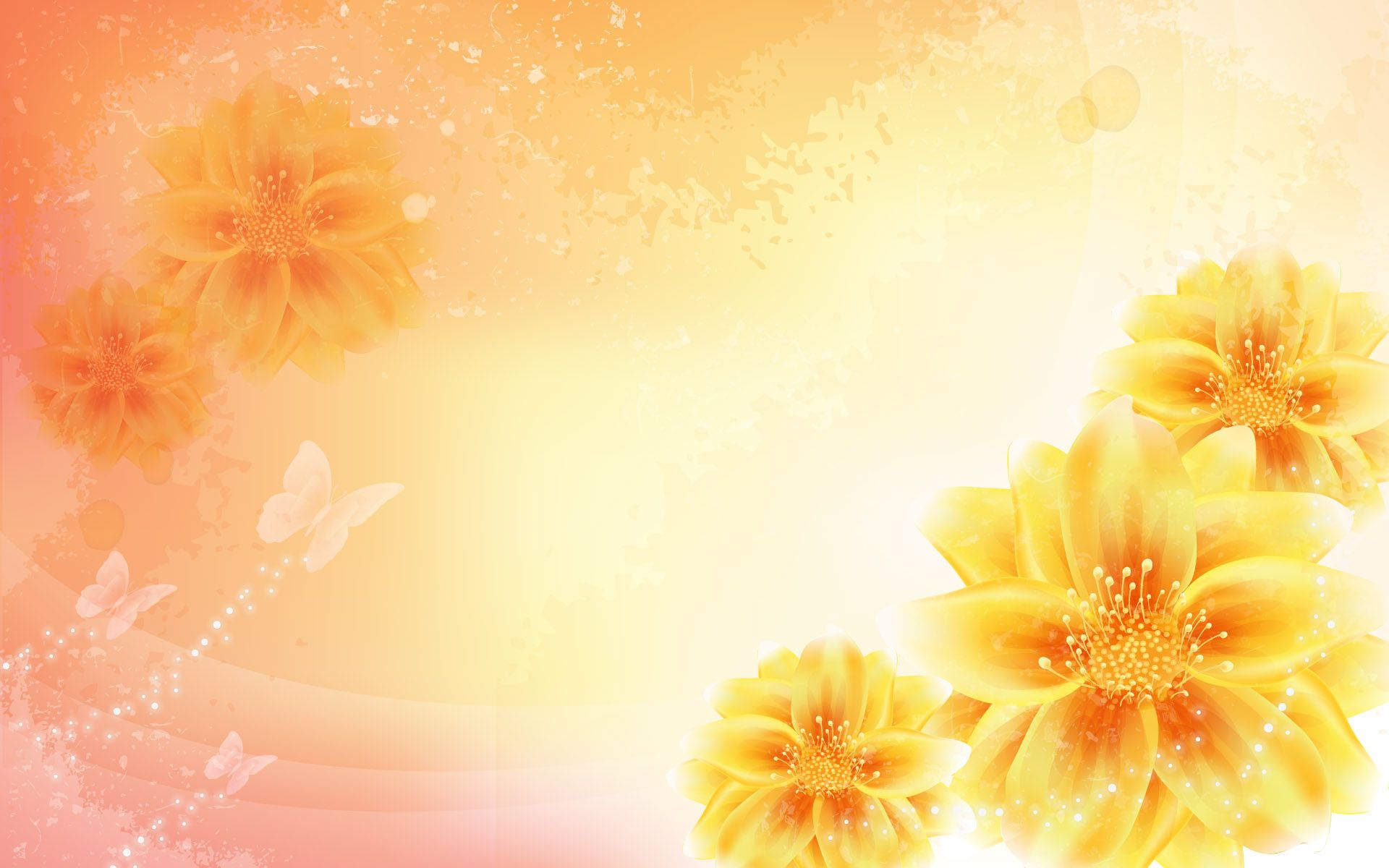 yellow flowers wallpapers pack - photo #30