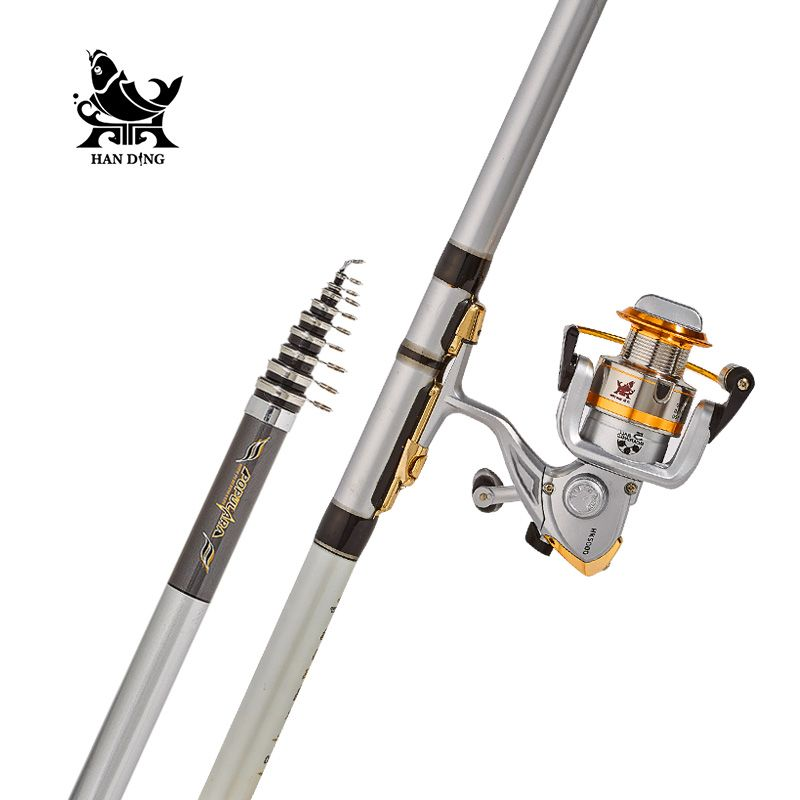 Zuanshi Rock Fishing Rod Combo 3 6 6 3m High Carbon Super Hard Rod Telescopic Fishing Telescopic Fishing Rod Fishing Rod Fishing Pole