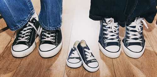 Baby Announcement | Wedding converse, Baby shoes, Converse