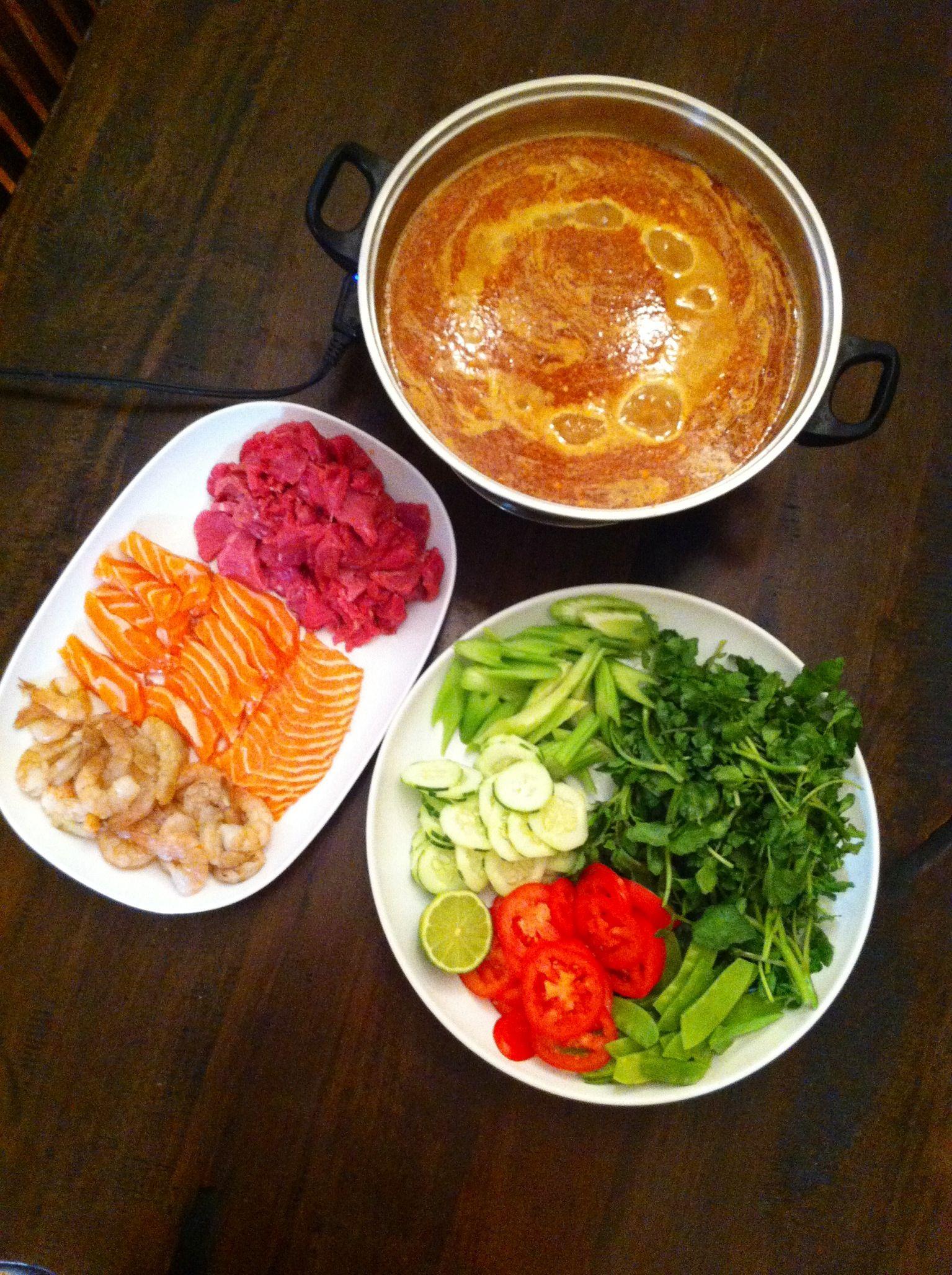 Homemade Cambodian Hot Pot  Asian Cook  Asain Food -8950