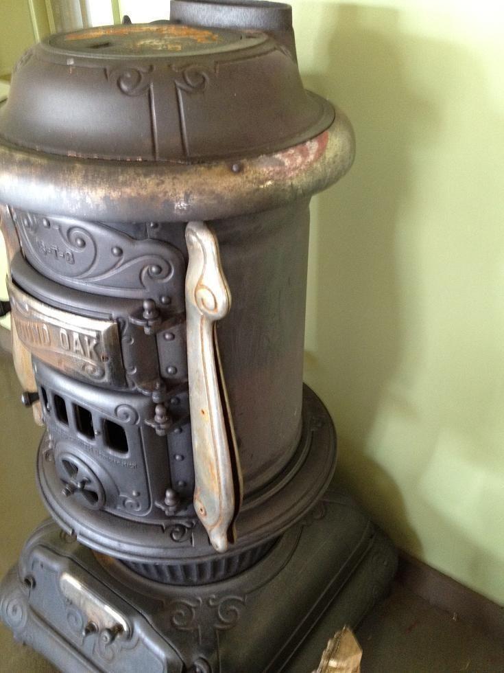 round oak parlor stove | Antique Round Oak Cast Iron Parlor Wood Stove made  by P.D. - Round Oak Parlor Stove Antique Round Oak Cast Iron Parlor Wood