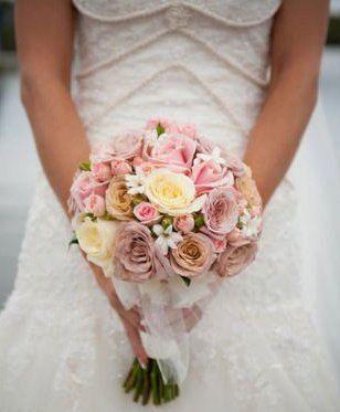 Fresh Flowers Wedding Posy Bouquet, Roses, Spray Roses & Hyacinths   Fake flower bouquet wedding ...