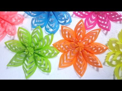 Easy Decoration Ideas How To Make This Colored Paper Floral Decor