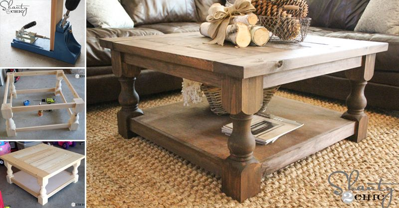 How To Make Diy Square Coffee Table Crafts Handimania
