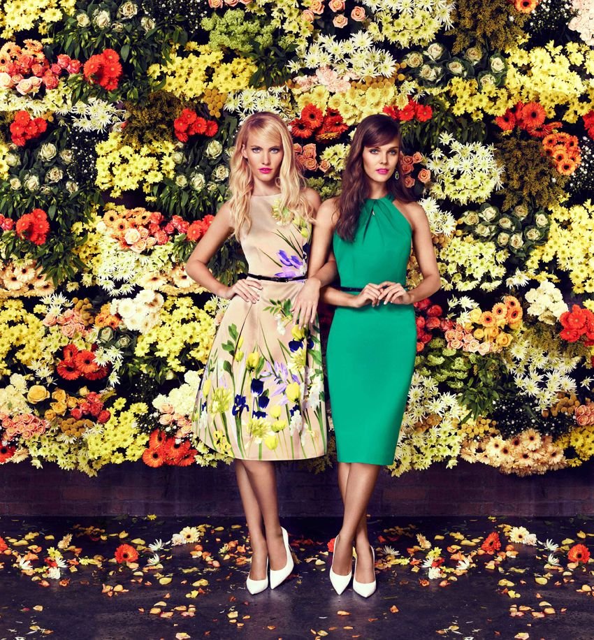 Coast High Summer collection featuring...Amelie Print Dress & Loula Dress - love that green dress