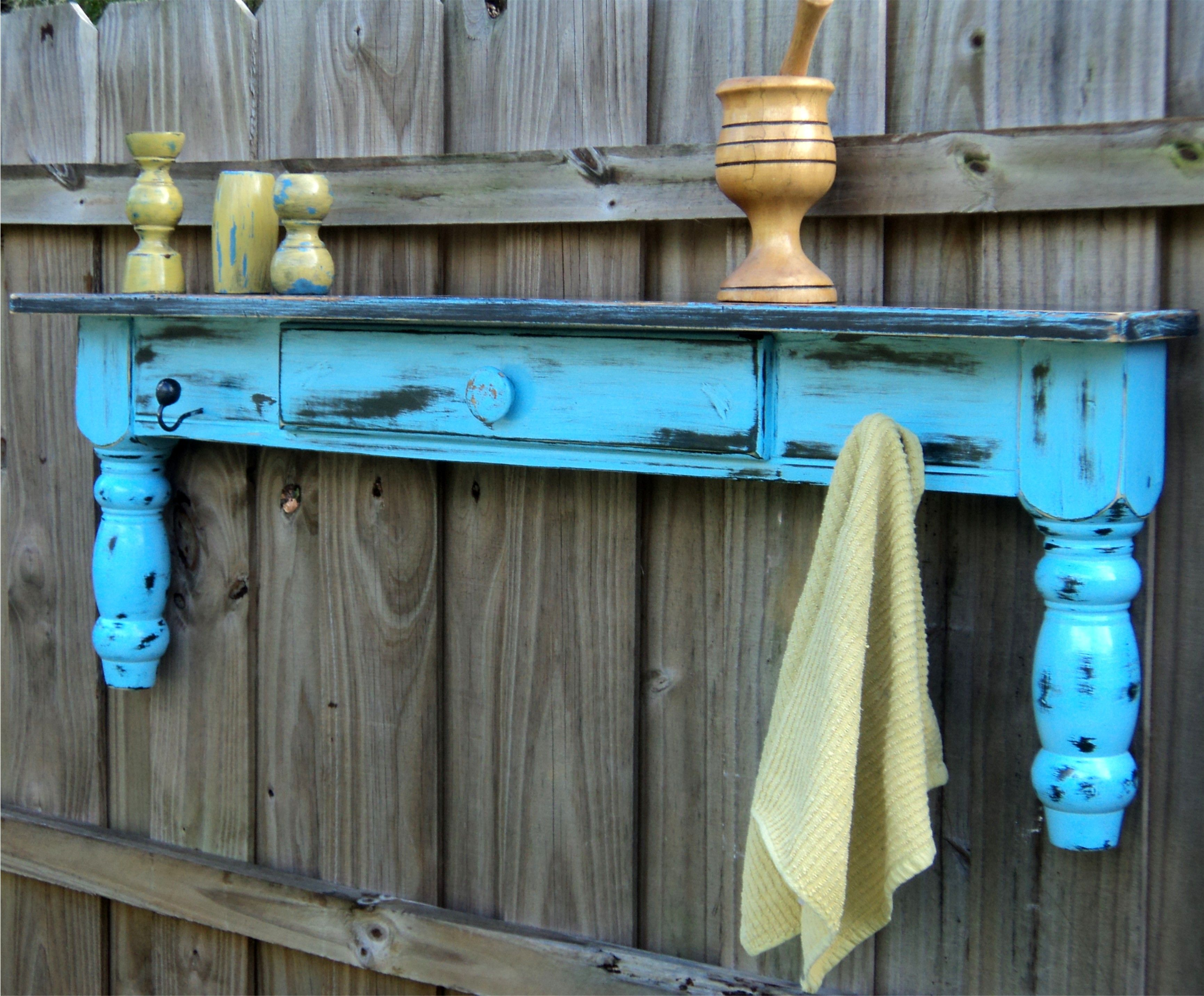 Up Cycled Coffee Table Farmhouse Display Shelf, Towel Bar, Coat Rack ...