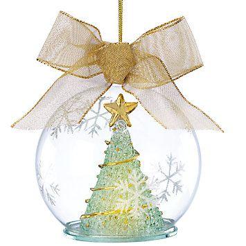 LENOX Ornaments: Santas & Trees - Lighted Wonder Ball Tree Ornament - LENOX Ornaments: Santas & Trees - Lighted Wonder Ball Tree Ornament