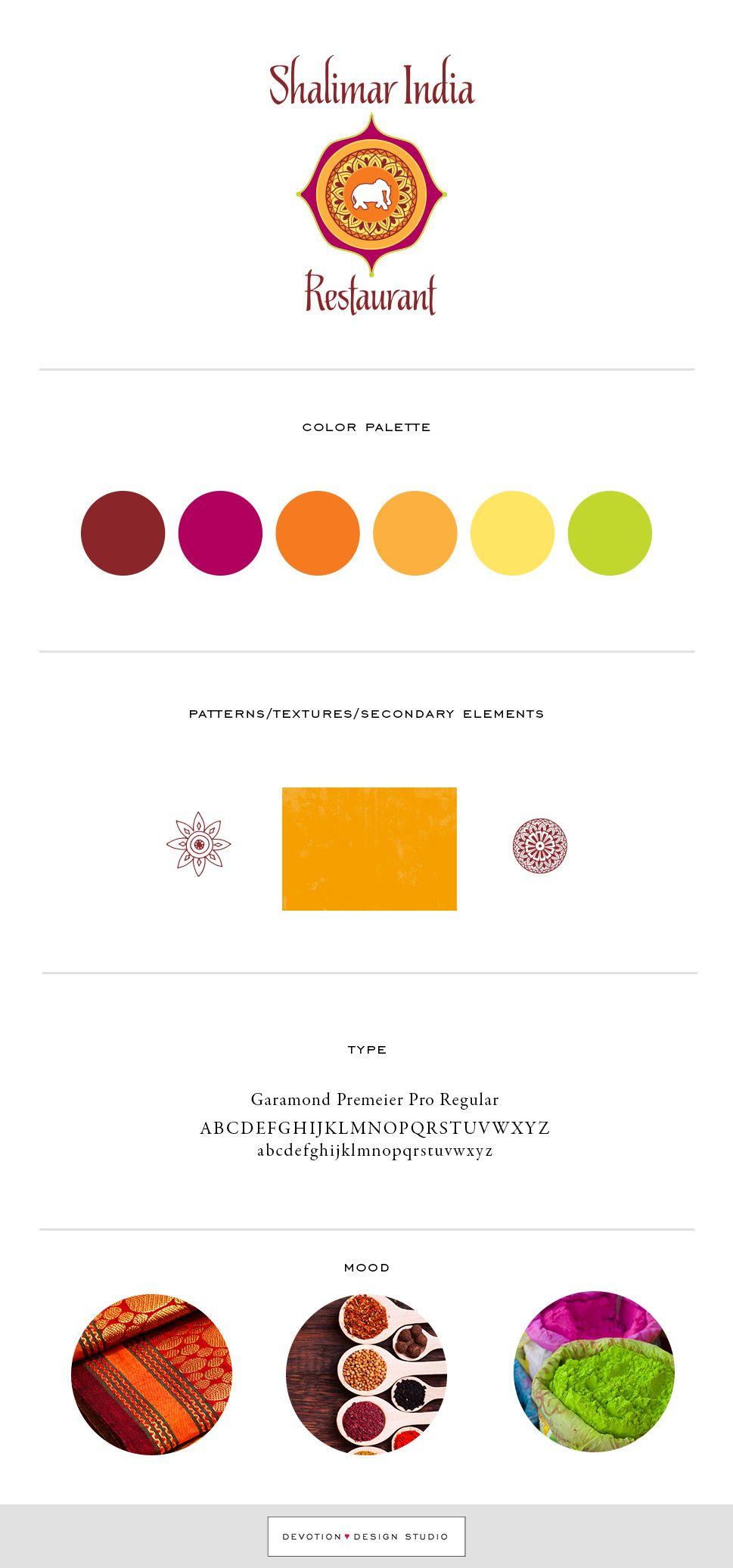 Branding board for branding work Devotion Design Studio did for ...