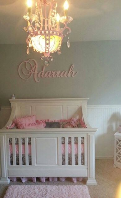 Custom Glittered Nursery Letters Baby Decor Personalized Name Wooden Hanging Wall