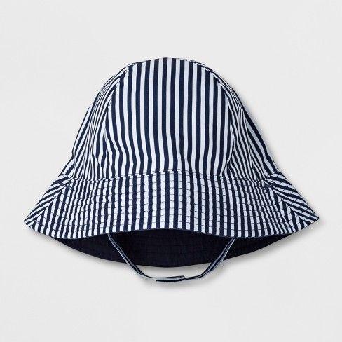 ae79573a3 Baby Boys' Stripe Bucket Hat - Cat & Jack Navy 6-12M, Boy's, Blue ...