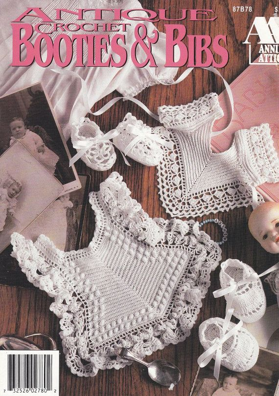 Bibs and Booties Crochet Patterns - 6 Sets of Antique-Style ...