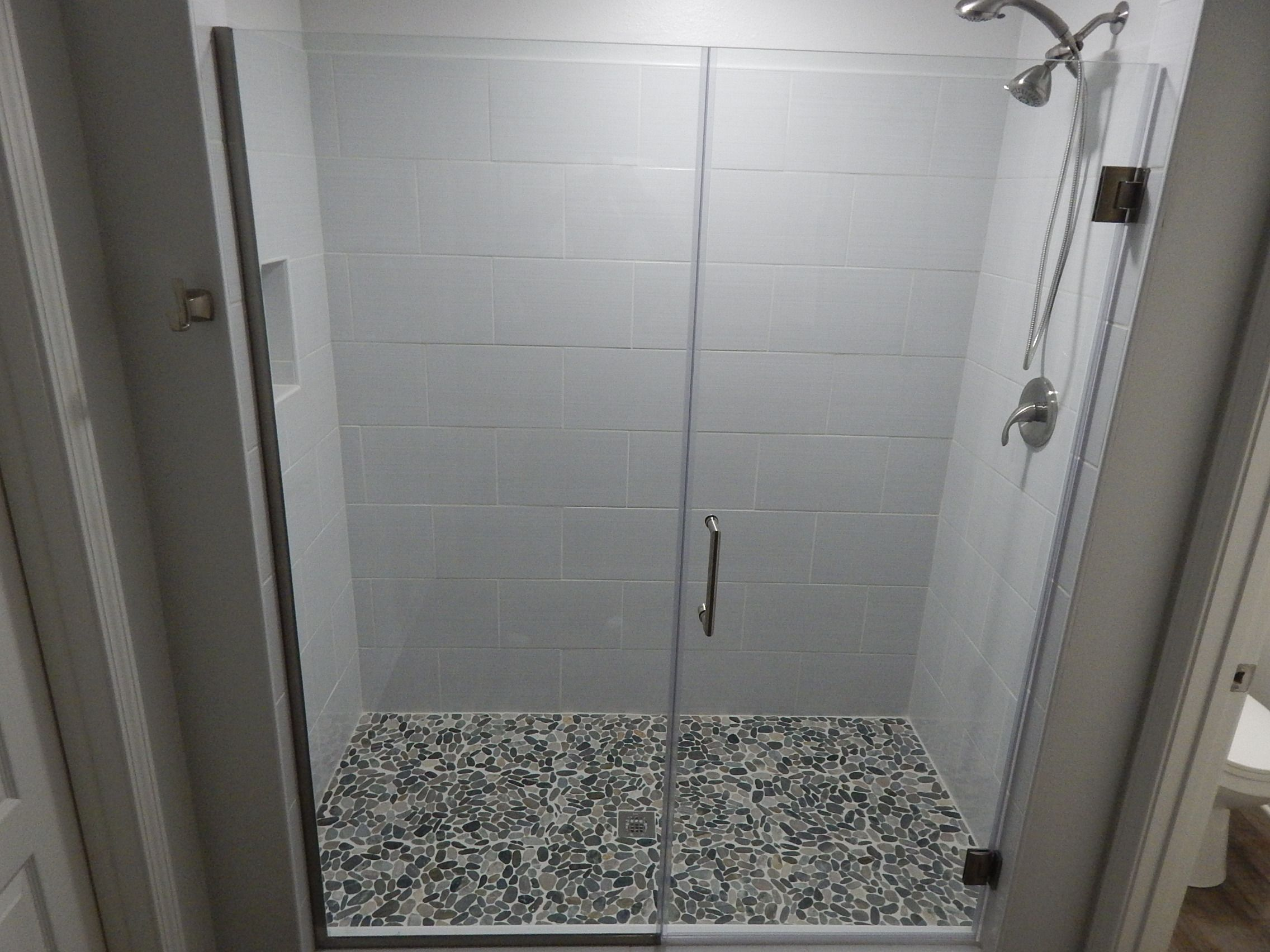 From LOWES Shower Surround Tile Blairlock White Ceramic Tile - 16 x 16 white ceramic floor tile