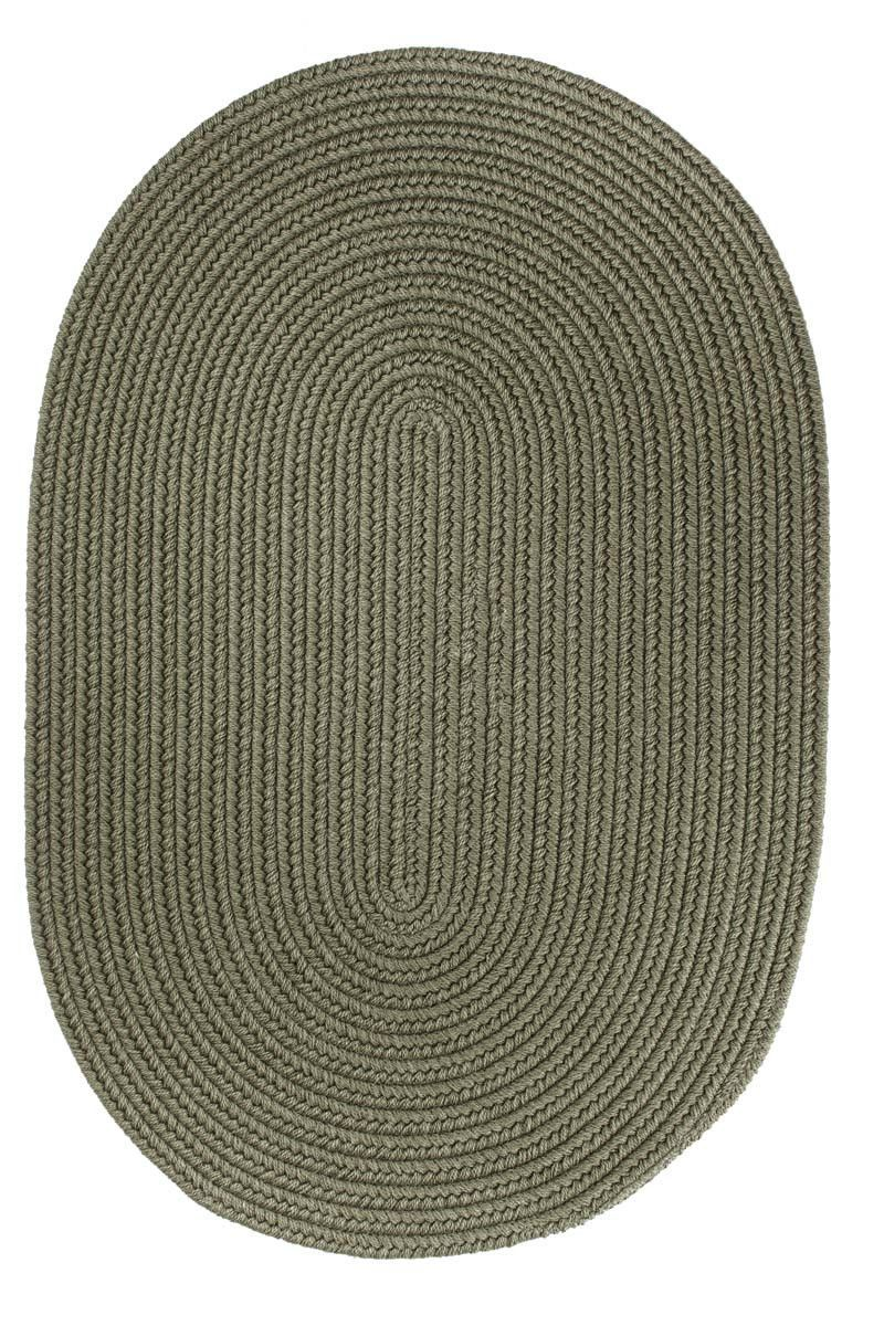 Wool Solids S111 Moss Green Braided Rug