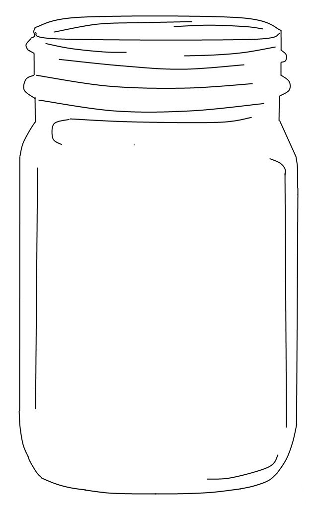 Peaceful image with printable mason jar template