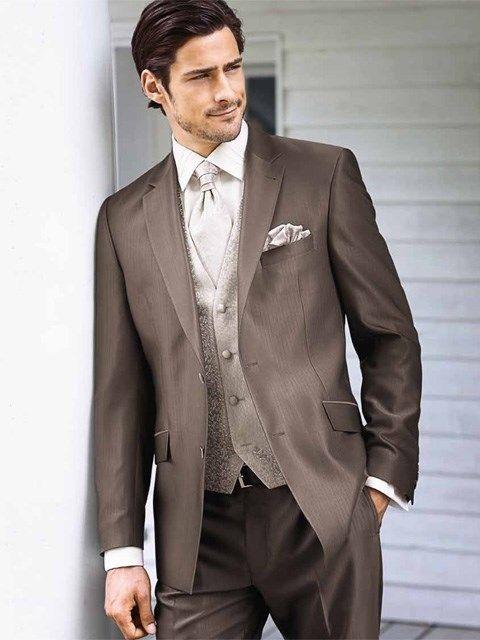 Pánsky svadobný oblek kávovej farby PO6 - Svadobný salón Valery ... cf29d476e61
