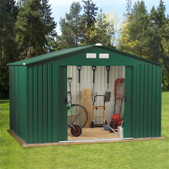 Garden Sheds Metal how to fix the roof on your metal shed | house | pinterest