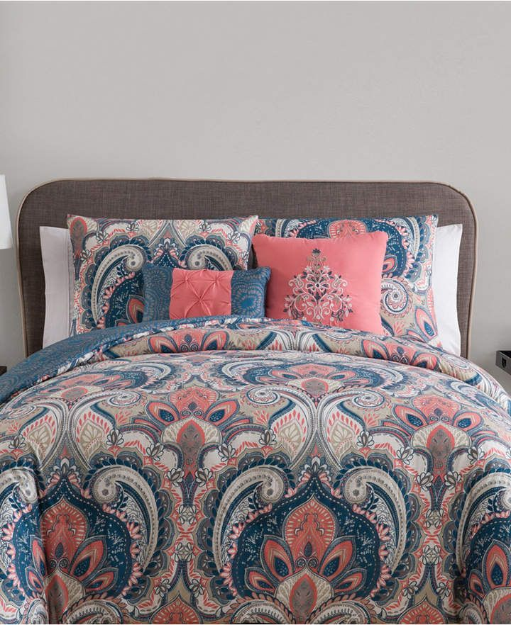 VCNY Home Casa Re`al Reversible 5-Pc. Full/Queen Comforter Set & Reviews - Bed in a Bag - Bed & Bath - Macy's