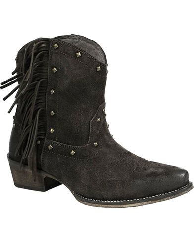 1b63ccc22 Roper Women's Brown Fringe Boots - Snip Toe | Fashion | Studded ...