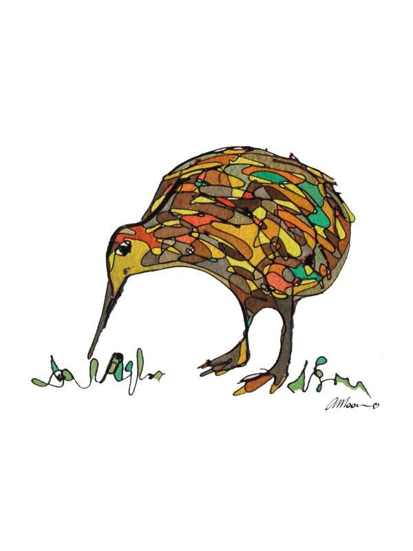 kiwi card gift card greetings cards blank card birthday card bird card albert the kiwi new