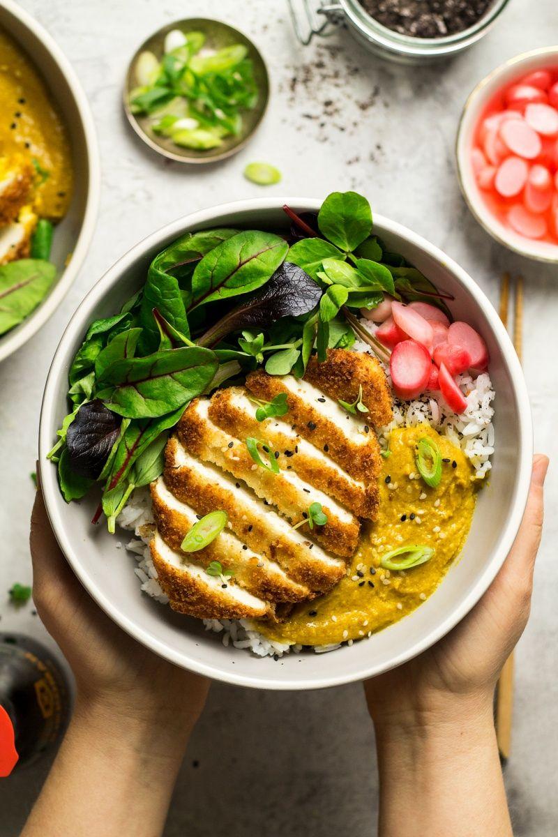 Vegan Katsu Curry With Tofu Lazy Cat Kitchen Recipe Vegan Katsu Curry Healthy Recipes Curry Recipes