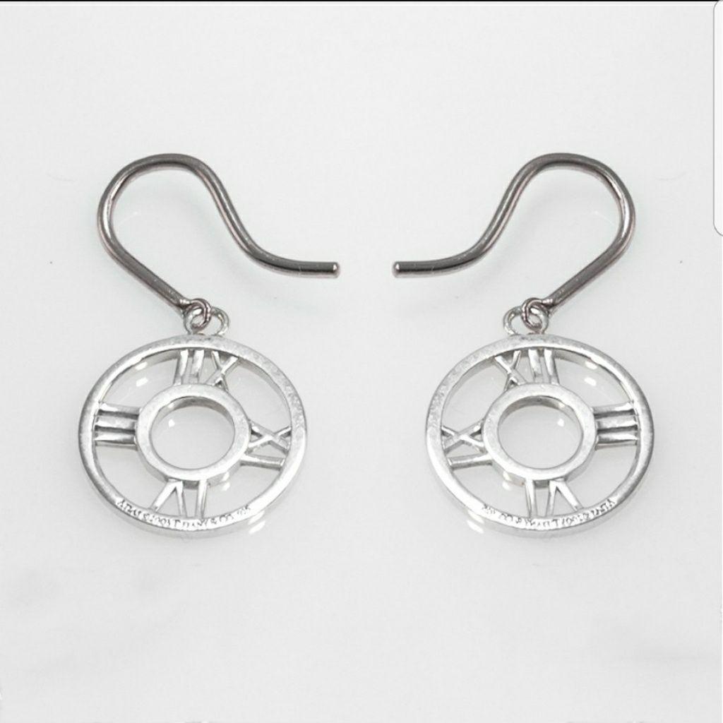 b96054aa1 Tiffany Atlas Circle Roman Numeral Dangle Earrings | Jewelry ...