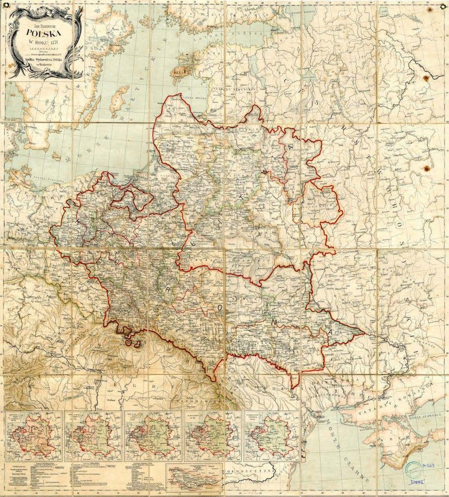 Szczegolowa Mapa Polski Z 1771 Roku Map Poland Map Ancient Maps