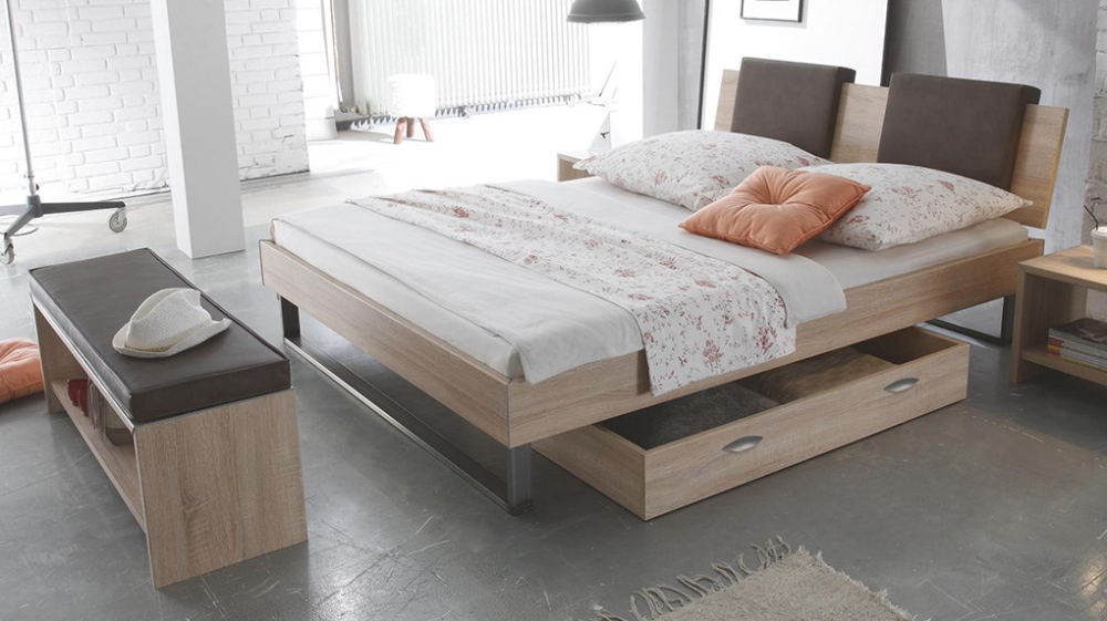 Hasena Indus Orva Varo Real Leather Modern Bed Bed