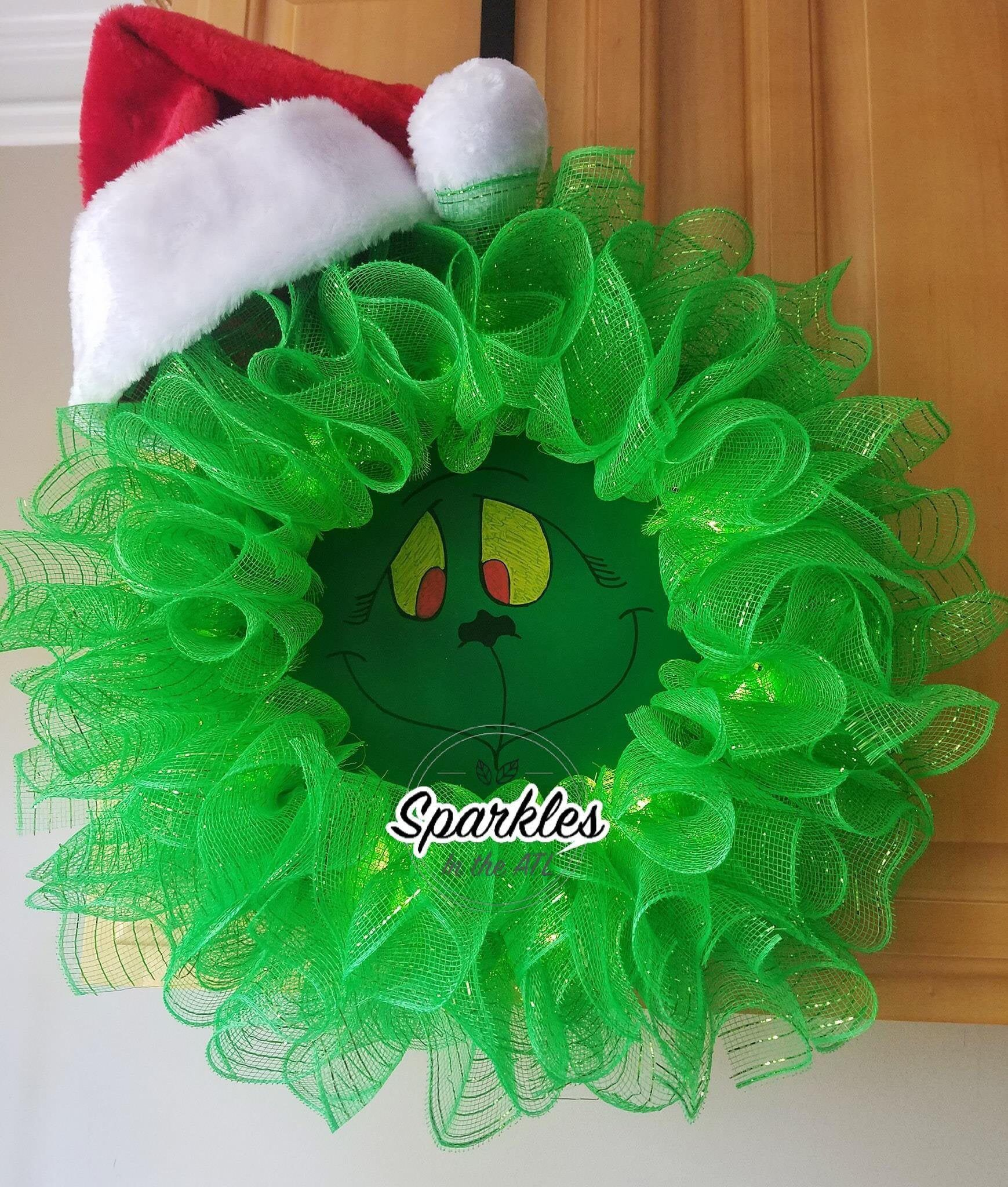 Grouch Stole Christmas 2020 Green Grouch Christmas Wreath Light Up Wreath Christmas Wreath