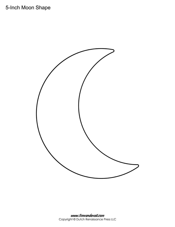 Blank Moon Template
