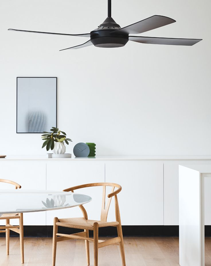 The beacon lighting moonah 132cm fan only in black suitable for coastal applications remote