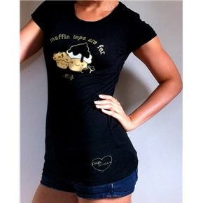"I love this ""Muffin Tops are For Muffins Only"" Tee but I would really have to work a little longer to be able to wear it without being ironic."