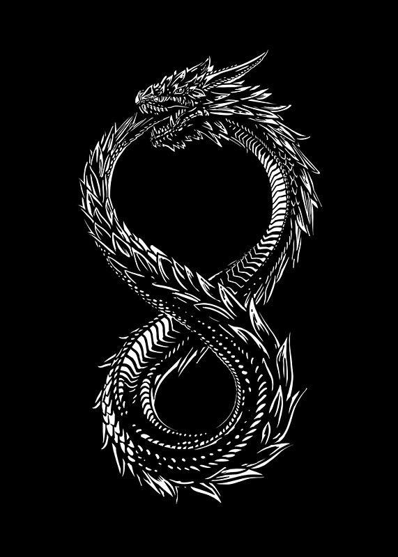 Altered Carbon Ouroboros Art Print By Liis Roden Nordic Tattoo Ouroboros Tattoo Fantasy Tattoos