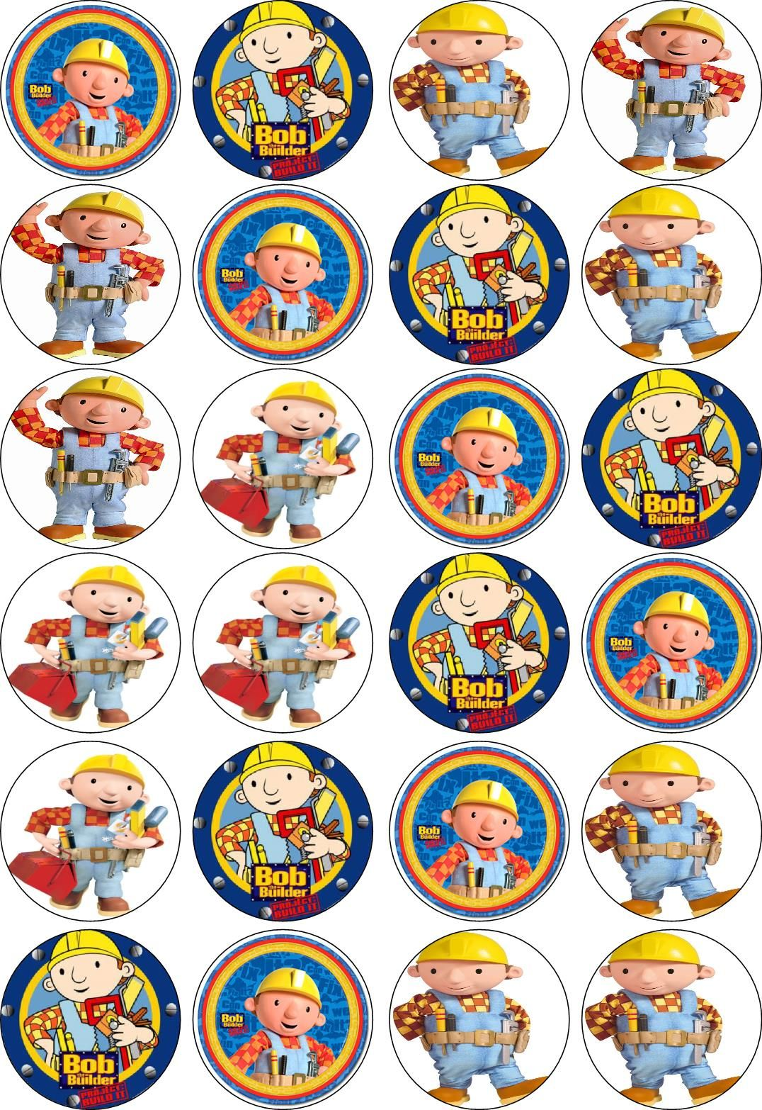 Bob The Builder Cupcake Toppers Bob The Builder B Day Party