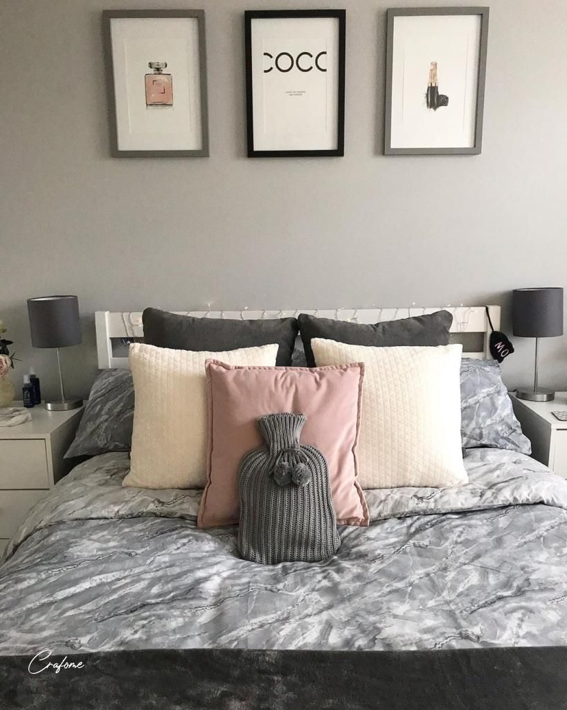 75+ Awesome Gray Bedroom Ideas will Inspire You - Crafome  #greybedroom #bedroom #bedroomdecor #bedroominspo #bedroomdesign #modernbedroom #bedroomstyling #greyhome #bedroominterior #greyhomedecor #homedecor #greyinterior #bedroomideas #bed #furniture #decoration