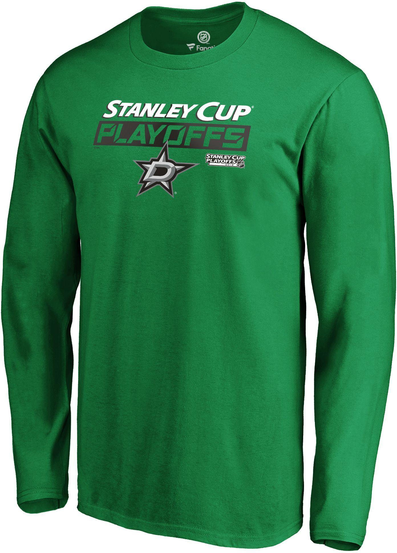 Nhl Men S Dallas Stars 2019 Nhl Stanley Cup Playoffs Green Long Sleeve Shirt Green Long Sleeve Shirt Long Sleeve Shirts Long Sleeve Tshirt Men