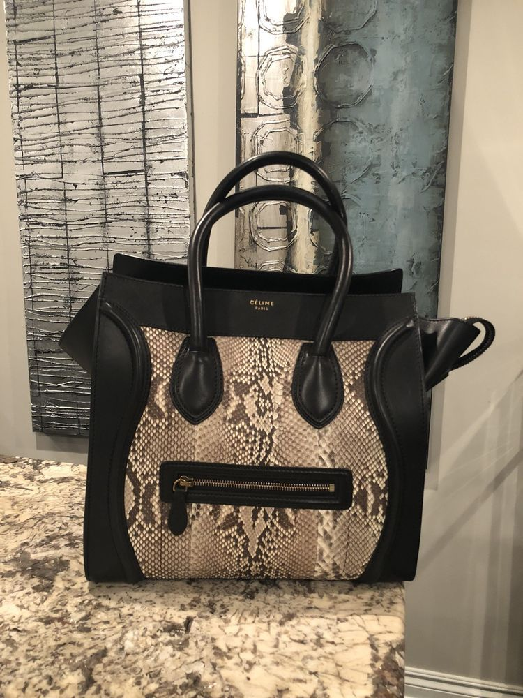 Celine Python Luggage Bag Phoebe Philo  fashion  clothing  shoes   accessories  womensbagshandbags 6439229d5e