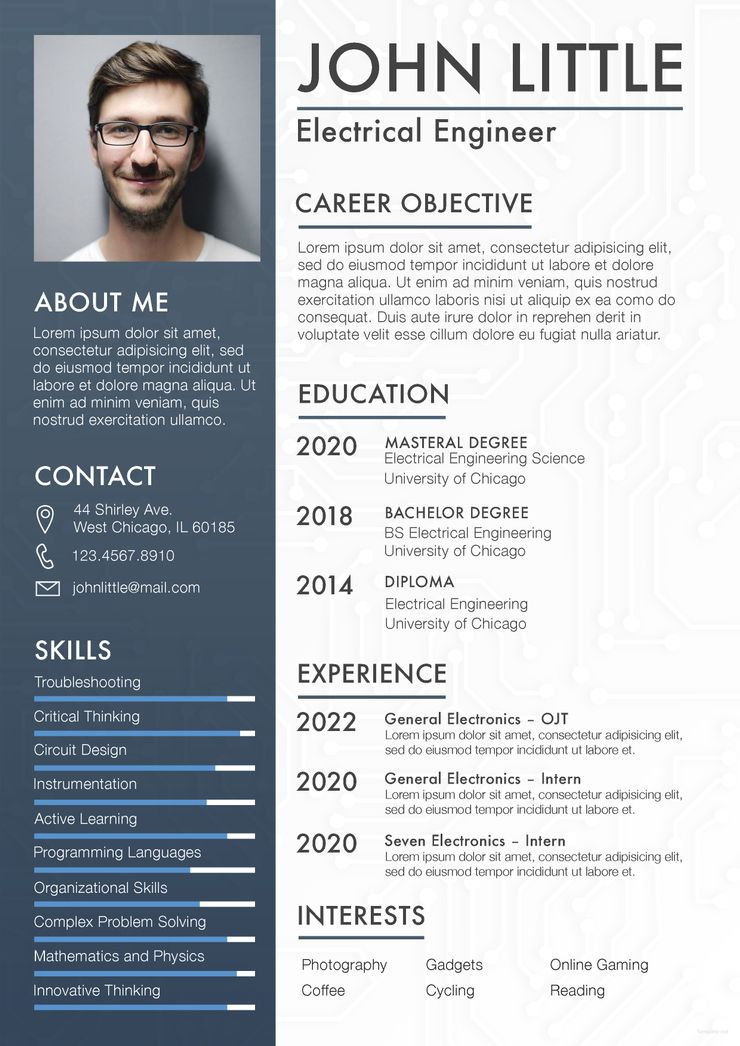 Free Electrical Engineer Fresher Resume Engineering