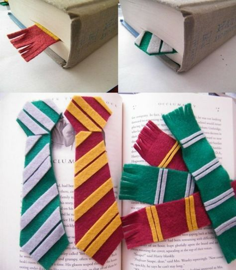 Lesezeichen aus harry potter krawatten kinder pinterest harry potter lesezeichen basteln - Harry potter basteln ...