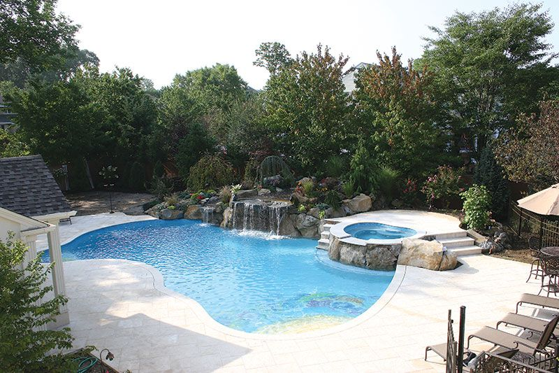 3 In 1 Pool Oasis By All Island Gunite Pools Which To Indulge First Under The Waterfall